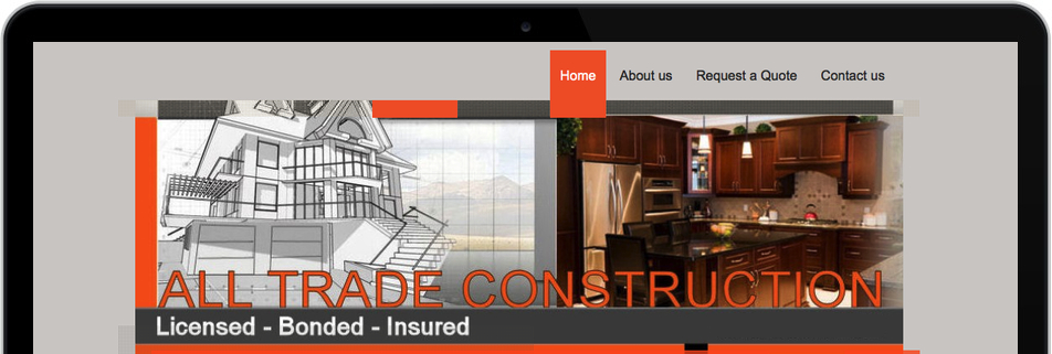 Site web de construction portant le titre « All Trade Construction »