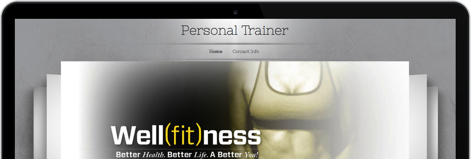 Sito di personal trainning con il titolo Well(fit)ness'