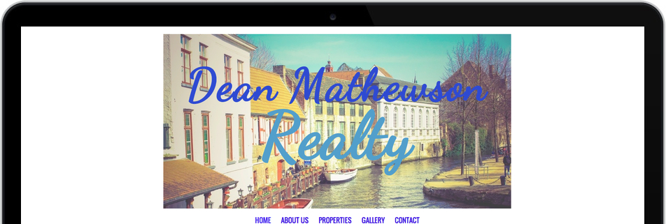 Realtor website with the title 'Dean Mathewson Realty'